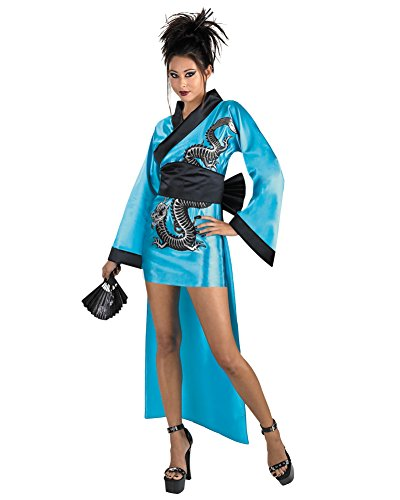 Dragon Geisha Adult Costume Japanese Chinese Kimono Theatre Costumes Sizes: One Size - East Halloween Costume Ideas