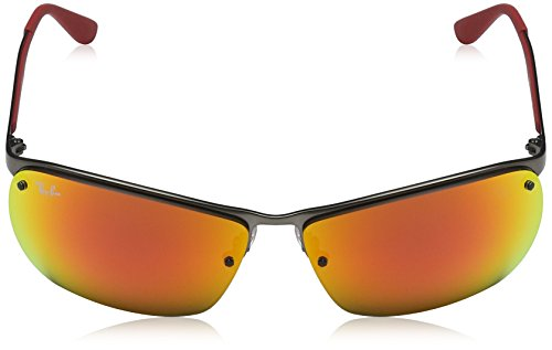3550 Gris RB Red Sonnenbrille Ray Gunmetal Ban 4tqcTcwp
