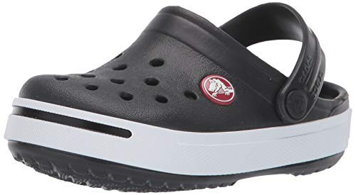 Crocs Kids Unisex Crocband II (Toddler/Little Kid) Black/White 1 M US Little Kid