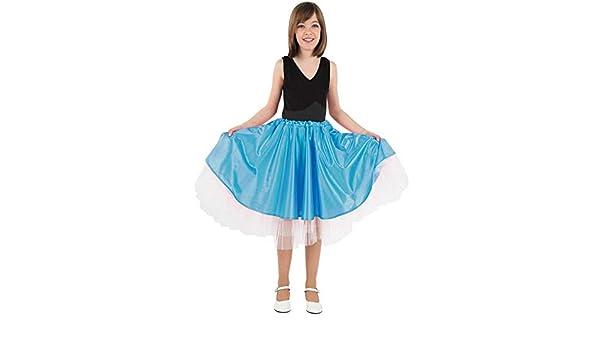 DISBACANAL Falda Olivia niña - Turquesa, 10 años: Amazon.es ...