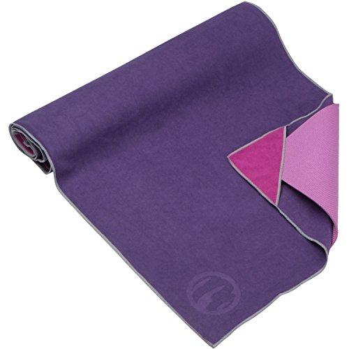 The Combo Yoga Mat Luxurious Non Slip Mat Towel: Skidless Non Slip Suede Microfiber Hot Yoga Towel