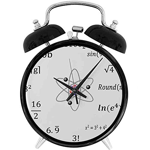22yiihannz Desk Clock 4in Large Sheldon Cooper Maths Wall Clock - Battery Operated Quartz Ring Alarm Clock for Home,Office,Bedroom, Unique Decorative Clock.