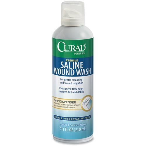 Curad Saline Wound Flush Spray 7.1 oz for sale  Delivered anywhere in USA