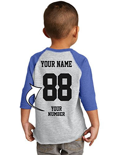 Tee Miracle Custom Baseball Jerseys For Toddlers and Kids - Make Your Own Jersey T Shirts - Personalized Team Uniforms For Birthday (Toddler Baseball Uniform)