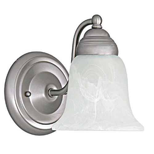 Capital Lighting 1361MN-117 Wall Sconce with Faux White Alabaster Glass Shades, Matte Nickel Finish ()