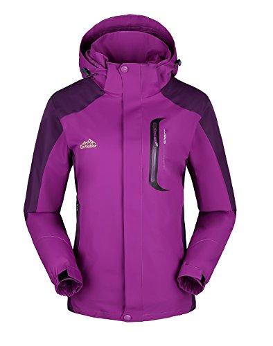KAISIKE Women's&Men's Windproof Softshell Fleece Ski Jacket 3 In 1 Outdoor Sports Waterproof Snow Rain Jacket Coat(168)