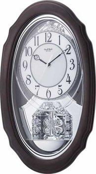 Crystal Hearts Musical Clock Silver ()