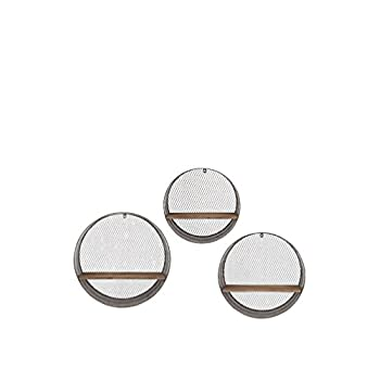 Image of Home and Kitchen IMAX 65320-3 Laurel Round Wall Shelves, Set of 3