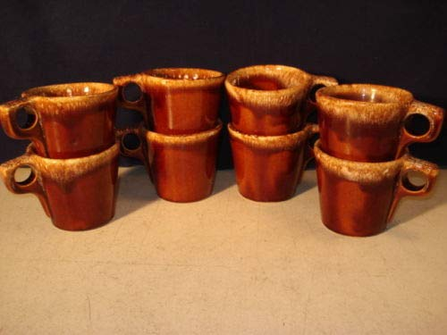Hull Ovenproof Ceramic Mugs - Made In The USA x8