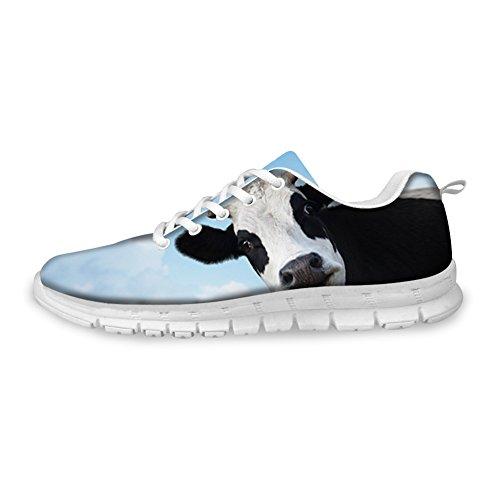 Casual Lightweight HUGS Cows Shoes Sports Black Men's EU35 Rnnning IDEA Eyes Sneakers Design Fashion nqFzRXqwB