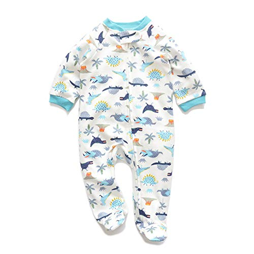 JooNeng Newborn Baby Cotton Footies Romper Infant Long Sleeve Animal Plant Printed Sleeper Pajamas One Piece,Unicorn