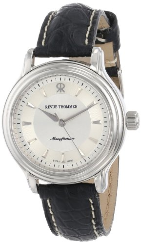 Revue Thommen Classic Ladies Black Leather Strap Automatic Watch 12500-2538