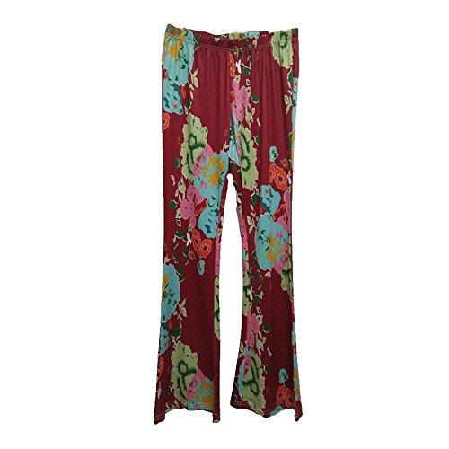 Chic Mieuid Tempo Larghi Pants Eleganti Libero Primaverile Colour 5 Donna Baggy Cute Lunga Estivi Ventre Del Danza Stampato Pantaloni qrqpI1wOxS