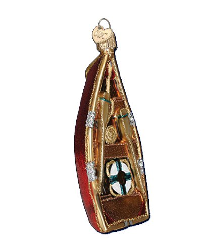 Old World Christmas Rowboat Glass Blown Ornament by Old World Christmas