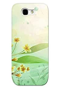 Case Provided For Galaxy Note 2 Protector Case Yellow Flowers Phone Cover With Appearance