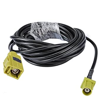 Bingfu RF Pigtail Standard 50 Ohm Fakra Curry Code K Jack Female to Fakra Curry Code K Jack Female on 123cm(4.04ft) RG174 Coaxial Cable for Satellite Radio ...