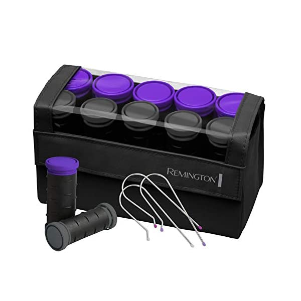 Remington-H1016-Compact-Ceramic-Worldwide-Voltage-Hair-Setter-Hair-Rollers-1-1--Inch-PurpleBlack
