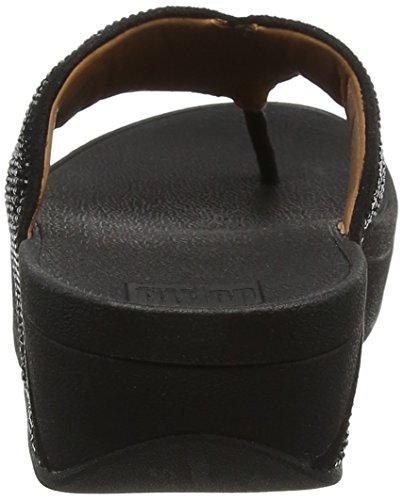 Black Negro Abierta Punta Toe Mujer para Sandalias Thong 001 con Fitflop Ritzy Sandals ZwSPPq