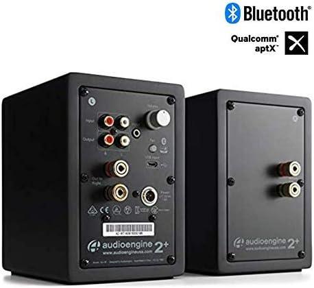 Audioengine A2 60w Aktiver Desktop Lautsprecher Integrierter Dac Analogverstärker Direkter Usb Anschluss 3 5 Mm Klinke Und Cinch Eingänge Kabel Inklusive Bluetooth Wireless Schwarz Audio Hifi