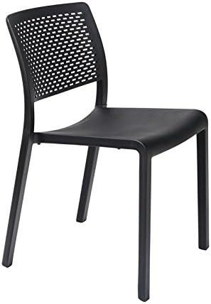 resol grupo Trama Set de 2 sillas de diseño para interior, exterior, jardín, Negro, 54 x 48 x 80 cm: Amazon.es: Jardín