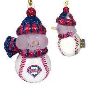 Scottish Christmas Philadelphia Phillies All-Star Light Up Snowmen Ornament Set ()