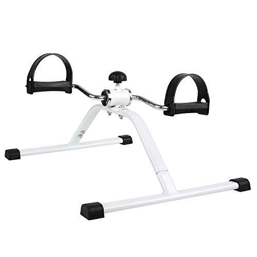TOOTOO Mini Exercise Bikes,Durable steel frame and crank arms,Arm and leg exercise machines-White by TOOTOO