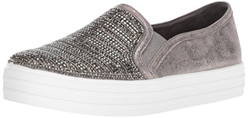 Skecher Street Women's Double up-Shimmer Sneaker,pewter,11 M US