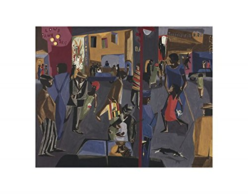 Fulton and Nostrand, 1958 by Jacob Lawrence, Art Print Poster, Paper Image 4471