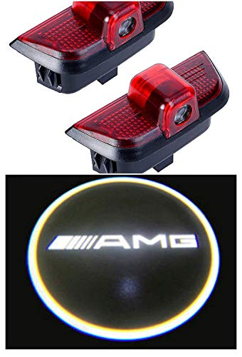 C-class Amg (Automobile Addons Easy to Install 2pc Car Door Projector LED Courtesy Puddle Lights for Mercedes Benz W204 C Class Models (Mercedes AMG Logo))