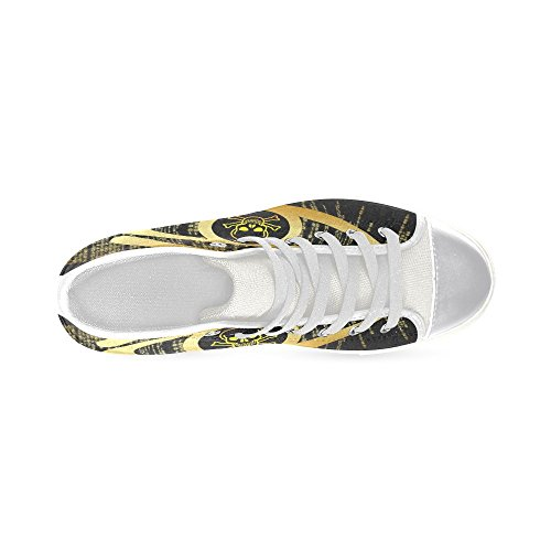 Chaussures De Toile De Dessus De Crâne De Interestprint Crâne Classique Pour Des Femmes