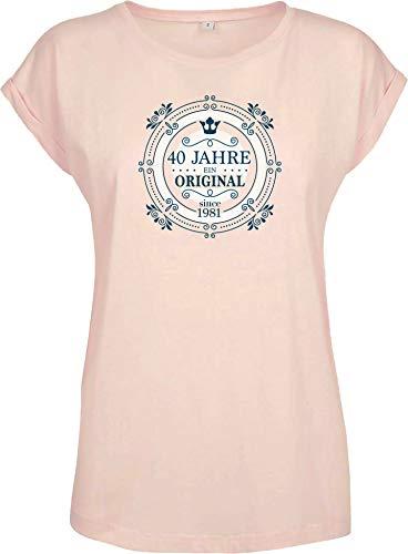 Verjaardagsshirt: 40 jaar een origineel – jaargang 1981 – viertig sterren verjaardag T-shirt – 40e – dames vrouw…