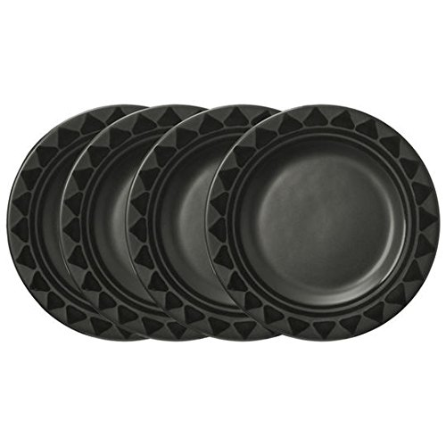 Pfaltzgraff Midnight Sun Dinner Plate (10-1/2-Inch, Set of 4), Black