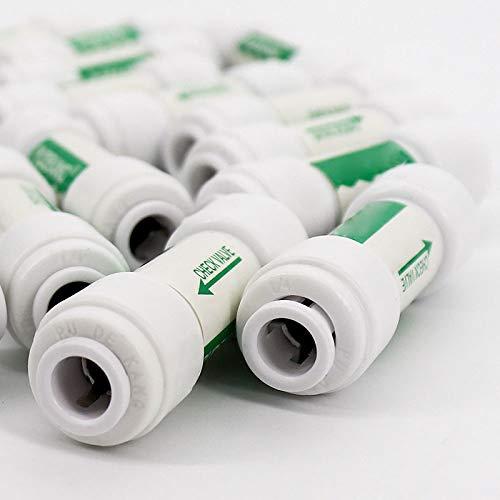V/álvula de retenci/ón de 1//4 Pulgadas para Sistema de /ósmosis inversa de Agua Que no retorna Vaugan