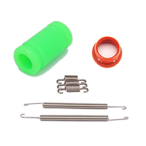 Silicone Joint Exhaust Tuned Pipe Spring Rubber Adapter Set 1/8 Nitro RC Car HSP HPI Traxxas Losi Axial