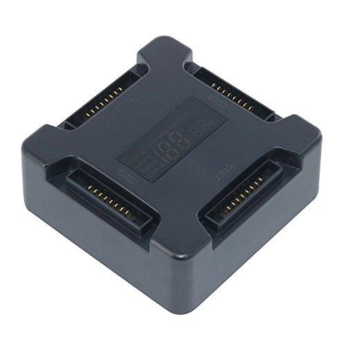 penivo 4Port Hub Mavic Cargador de batería, adaptador de Drone Batería paralelo Junta de carga con visualización digital...