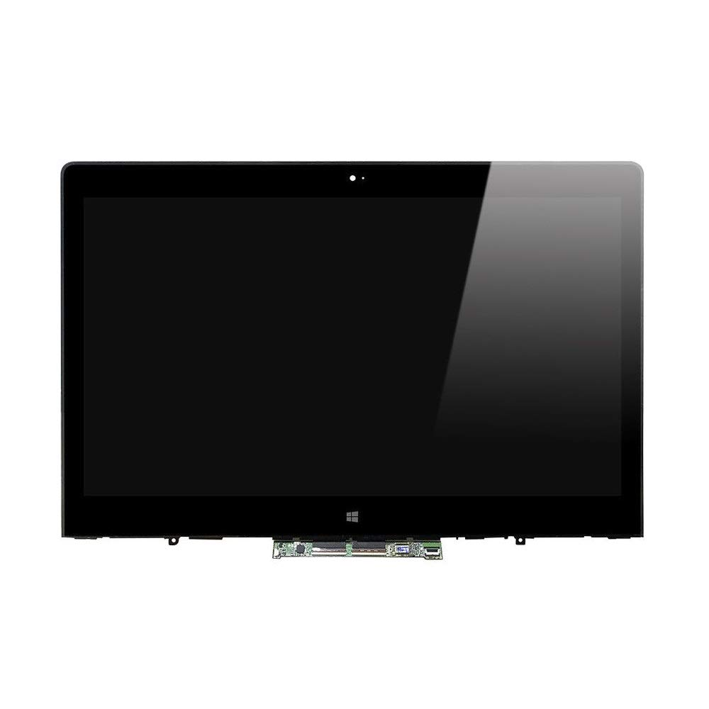 NBPCLCD 14'' Full HD 1920x1080 LED LCD Display Screen Touch Screen Glass Assembly w/Digitizer Board + Bezel Frame Replacement FRU:01AW138 for Lenovo ThinkPad Yoga 14 20FY 20FY-0002US R90M7RGL
