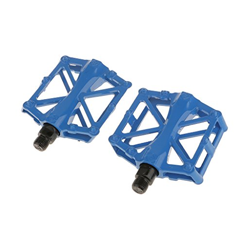 """Pedales De Bicicleta 9/16 """"bola De Ciclismo De Montaña Que Llevan Plataforma Plana - Azul, 8 x 9.7x 1,5 cm Azul"""