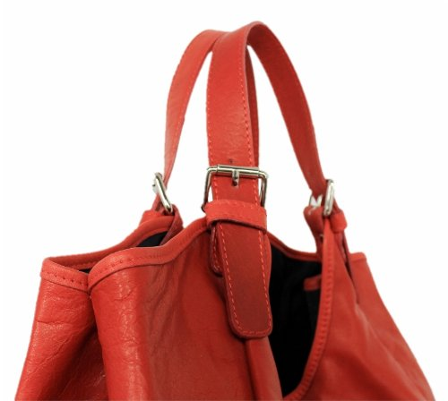 LEATHERWORLD  Italy, Borsa tote donna Rosso rosso groß
