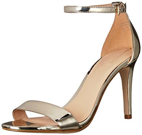 Gold Dress Sandals (ALDO Women's Cardross Dress Sandal, Gold, 6 B US)