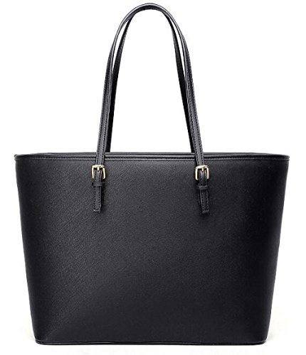 Black Bag Casual 14 Blue Briefcase Blue Ladies 28cm Classic Large Renhong Pu 35 Gray Messenger Shoulder Black Bag Bag Leather wqRpX6WFW4