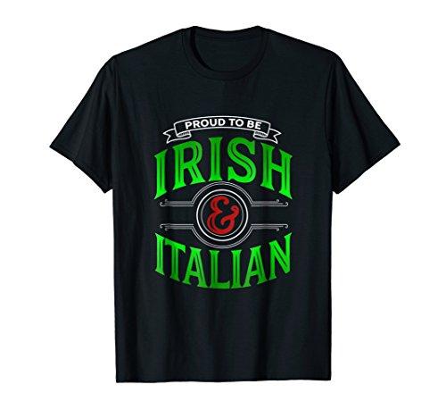 (Proud Irish Italian Heritage Funny Graphic)