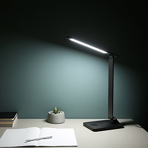 AUKEY Reading Lamp, 10W Metal LED Table Light with High-Speed USB Charging Port, Stepless Brightness & Color Temperature, Touch Control, Timer by AUKEY (Image #4)