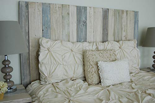 Farmhouse Mix Headboard Full Size, Leaner Style, Handcrafted. Leans on Wall. Easy Installation
