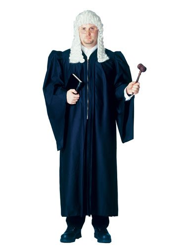 Deluxe Judge Robe, Fits Up To Size 48 (Judge Robes Costume)