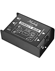 Professional Single Channel Passive DI-Box Direct Injection Audio Box Balanced & Unbalance Signal Converter with XLR TRS Interfaces for Electric Guitar Bass Live Performance