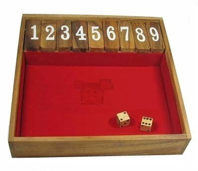 Shut the Box - The Popular Family and Friends Game (Large)