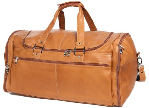David King & Co. Deluxe Extra Large Multi Pocket Duffel, Tan, One -