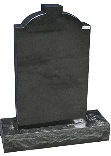 (Large Absolute Black Upright Granite Memorial Headstone MN-119)