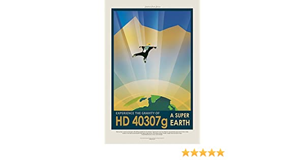 """NASA JPL Space Travel Poster Earth Your Oasis in Space 24x36/"""""""