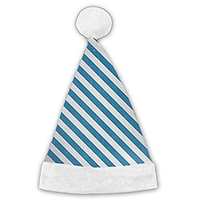 Florencej Blue Lines Christmas Hat Santa Hat Plush Fabric Made By Material Perfect For All Family
